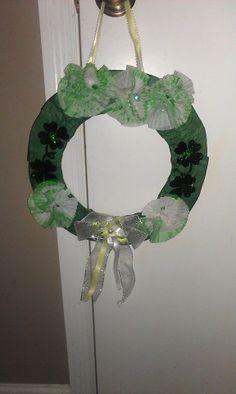 Cute St. Patty's day wreath. =)