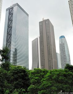 The Shinjuku Mitsui Building = beautiful design within and without.  Free flowing pathways on each floor, with no doors necessary (except on offices).  Best Bathrooms On Earth.  Worked here on and off for just two years, but loved every day.  Rumor has it that the office was renting for 200,000 $US/month, and the rent for my wastebasket was more than my mortgage in America.