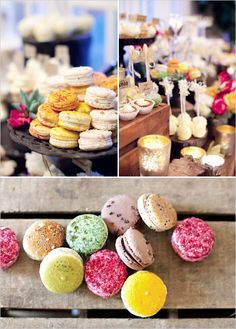 colorful French macarons. Definite party favors at my wedding. For suree!