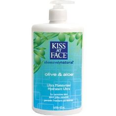 Kiss My Face Natural Body Moisturizer-Olive & Aloe-Fragrance Free-16,oz. (Pack of 3).