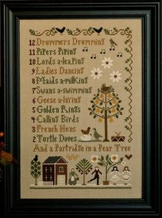 Twelve Days of Christmas Cross-Stitch, something else I'd like to do more of when I'm done with school...