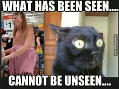 What has been seen.... Cannot be unseen.... + funny + humor + Lol + Photo + picture + CAT + woman