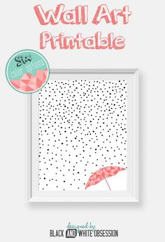 Free Printable: Black and White Rain and Snow Wall Art /All things Thrifty contributor Trisha D from Black and White Obsession