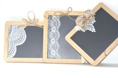 1 Vintage Lace and burlap Chalkboard for  Wedding by AirthandOlson, $5.00