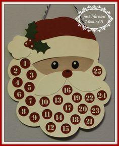 #DIY Santa Advent Calendar #Silhouette