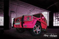 Mercedes G55 AMG 2010 | Fluorescent Pink Matt by Tareq Abuhajjaj | Photography & Design, via Flickr