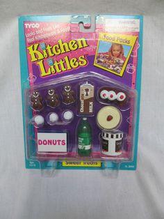 BRAND NEW 1995 BARBIE TYCO KITCHEN LITTLES SWEET TREATS FOOD PACKS | eBay