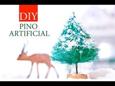 Cómo hacer pinos o árboles de Navidad artificiales de aspecto realista en miniatura | Manualidades