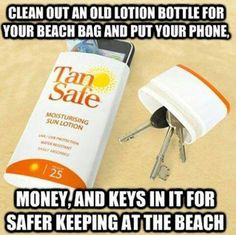 Great idea for your things not to get stolen.