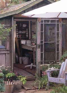 Brabourne Farm: Beautiful Potting Sheds Greenhouse Shed, Cheap Greenhouse, Portable Greenhouse, Indoor Greenhouse, Potting Sheds, Potting Benches, Modern Garden Design, She Sheds, Garden Structures