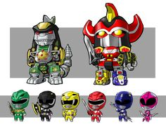 Lil Zords and Rangers by KevinRaganit.deviantart.com on @deviantART
