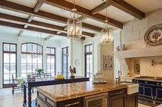 Traditional Tudor Style Home with French Interiors - traditional - kitchen - toronto - Makow Associates Architect Inc