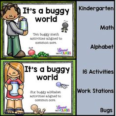 A special kind of class: It's A Buggy World! Activities for letter recognition and addition. Pinned by SOS Inc. Resources. Follow all our boards at pinterest.com/sostherapy/ for therapy resources.