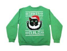 "FREE U.S. Shipping! NWT! MSRP $30.00! Christmas ""Santa Claws"" Sweatshirt! Large. #GildanHeavyBlend"
