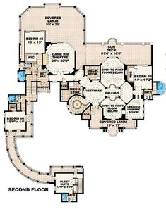 6 Bedroom House Plans, Coastal House Plans, Dream House Plans, House Floor Plans, Dream Houses, Luxury Houses, The Plan, How To Plan, Building Plans