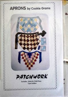 Patchwork Aprons Pattern Book by frenchvelvet on Etsy