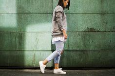 Der perfekte Streetstyle-Look: das Calvin Klein Sweatshirt!
