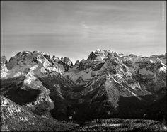 | Brenta Dolomites - Central Section | with Shen-Hao 4x5, Rodenstock Sironar-N 150mm F/5.6 - Ilford fp4+ | © albertobregani.com | Mountain Photographer