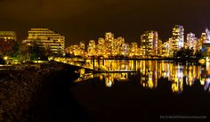 False Creek: A small inlet surrounded by the old Expo lands; now centre of the sought-after residential towers of the prestigious neighbourhood of Yaletown. Vancouver, Seymour, Western Canada, Canada Travel, British Columbia, Westerns, Beautiful Places, Wanderlust, City