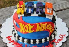 Hot Wheels Birthday Cake by The Wild Cupcake in New Bern, NC. www.thewildcupcake.com