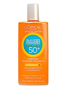 The Ultimate Anti-Aging Routine You Can Buy at the Drugstore  SUNSCREEN Don't you love when makeup drips down your face in the summer? No? This tinted lotion evens out skin, stays put, and doesn't feel like a mask.