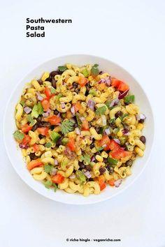 Southwestern Pasta Salad | Vegan Richa #vegan #oilfree