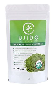 Ujido USDA Organic Matcha Green Tea Powder - Natural Energy and Focus Booster - Culinary Grade - The Ultimate Superfood- Gluten Free and Vegan - 3.5oz *** See this great product.