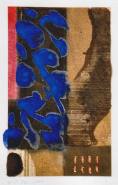 D-25.Dec.2000  monotype print, collage, painting  林孝彦 HAYASHI Takahiko 2000