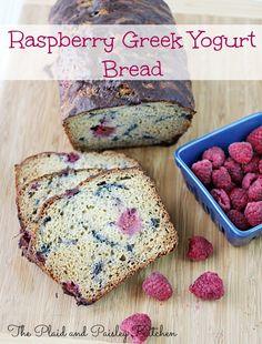 Raspberry Greek Yogurt Bread