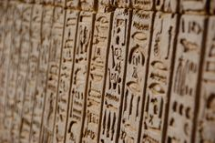 Hieroglyphics font was based on many sources including actual Egyptian Hieroglyphics shown here: Kom Ombo Temple - Aswan, Egypt Ancient Egyptian Art, Ancient History, Places In Egypt, Rosetta Stone, North Africa, Glyphs, Prehistoric, Archaeology, Animal Print Rug
