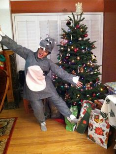 All I want is a hippopotamus for Christmas. DIY. Costume. #dinahmade Follow me on Instagram dynahmite