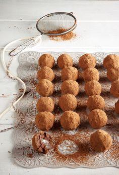 Τρουφάκια με κάστανο και σοκολάτα