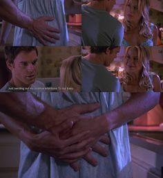 Dexter's hand on Rita's belly! Dexter Rita, Dexter Morgan, Debra Morgan, Michael C. Hall, Dexter Seasons, Jennifer Carpenter, The Lion Sleeps Tonight, Father Knows Best, Julie Benz