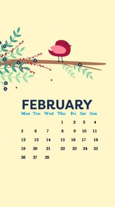 February 2018 Calendar Wallpapers For Iphone