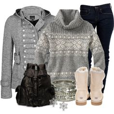 """""""Snowflakes"""" by stylesbyjoey on Polyvore"""