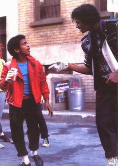 Michael Jackson Pepsi Commercial with Alfonso Ribeiro (1984). This is when he learned to do the 'Carlton'.