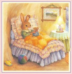 Cute bunny by Susan Wheeler Susan Wheeler, Peter Rabbit, Beatrice Potter, Bunny Art, Children's Book Illustration, Whimsical Art, Vintage Cards, Cute Art, Illustrators
