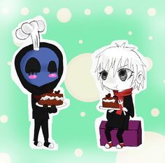 Chibipasta! Eyeless Jack made some cake and Moona is a taste tester^^