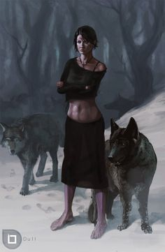 Wolf Lady-- The name is Wolf Lady. I think I'm gonna call her Kiera :-)