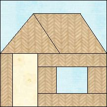 Quilt-Pro Systems - Block of the Day Archive - Test Page House Quilt Patterns, House Quilt Block, House Quilts, Paper Piecing Patterns, Barn Quilts, Quilt Block Patterns, Pattern Blocks, Quilt Blocks Easy, Foundation Paper Piecing