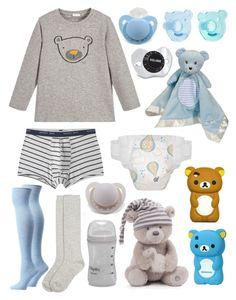 """""""Baby Bear (cgl, cglre)"""" by transboyfanboy ❤ liked on Polyvore featuring Il Gufo, MANGO MAN, Gund, Playtex, Monsoon and Ozone"""