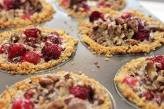 Mini Cranberry Pecan Pies | Created by Diane