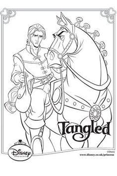dibujos colorear enredados disney tangled rapunzel coloring pages