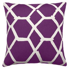 Portrayal of Purple Accent Pillow – Interior with Lovely Outlook