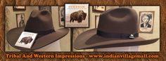 Stetson Legendary 4X Buffalo Fur Muleshoe Cowboy Hat  From Tribal And Western Impressions - Review off of: http://www.indianvillagemall.com/stetsonbuffalomuleshoe.html