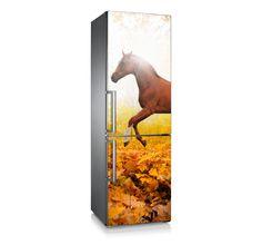 """Vinilo para frigorífico """"Brown horse"""" Decora tu Hogar."""