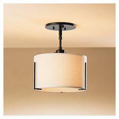 Exos Single Shade Semi-Flush Mount Ceiling Lights | YLighting