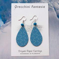 Paper Earrings, Drop Earrings, Origami Paper, Earrings Handmade, Etsy, Jewelry, Fantasy, Jewlery, Jewerly