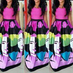 Short Sleeve long Maxi Dress #Fashionista #SwagSoStupid #ColorsSoPretty #Fierce