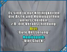 Es sind die kleinen Unterschiede. #Arztwitz #Spass #Humor #lustiges #Spruch #visualstatements